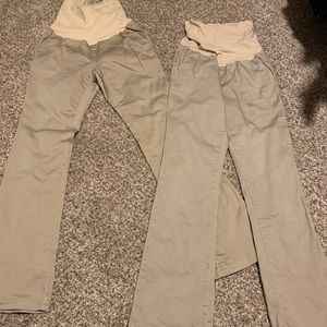 khaki pants maternity